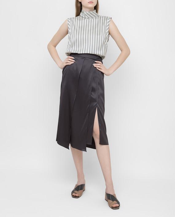 Темно-серая юбка из шелка hover