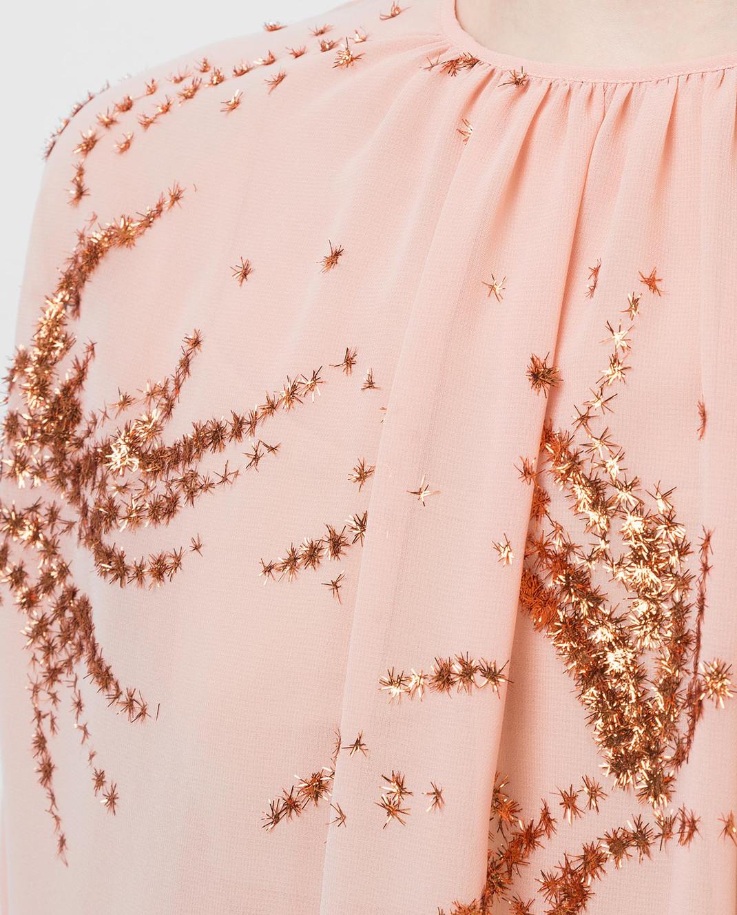 Miu Miu Пудровая блуза MT1296 изображение 5