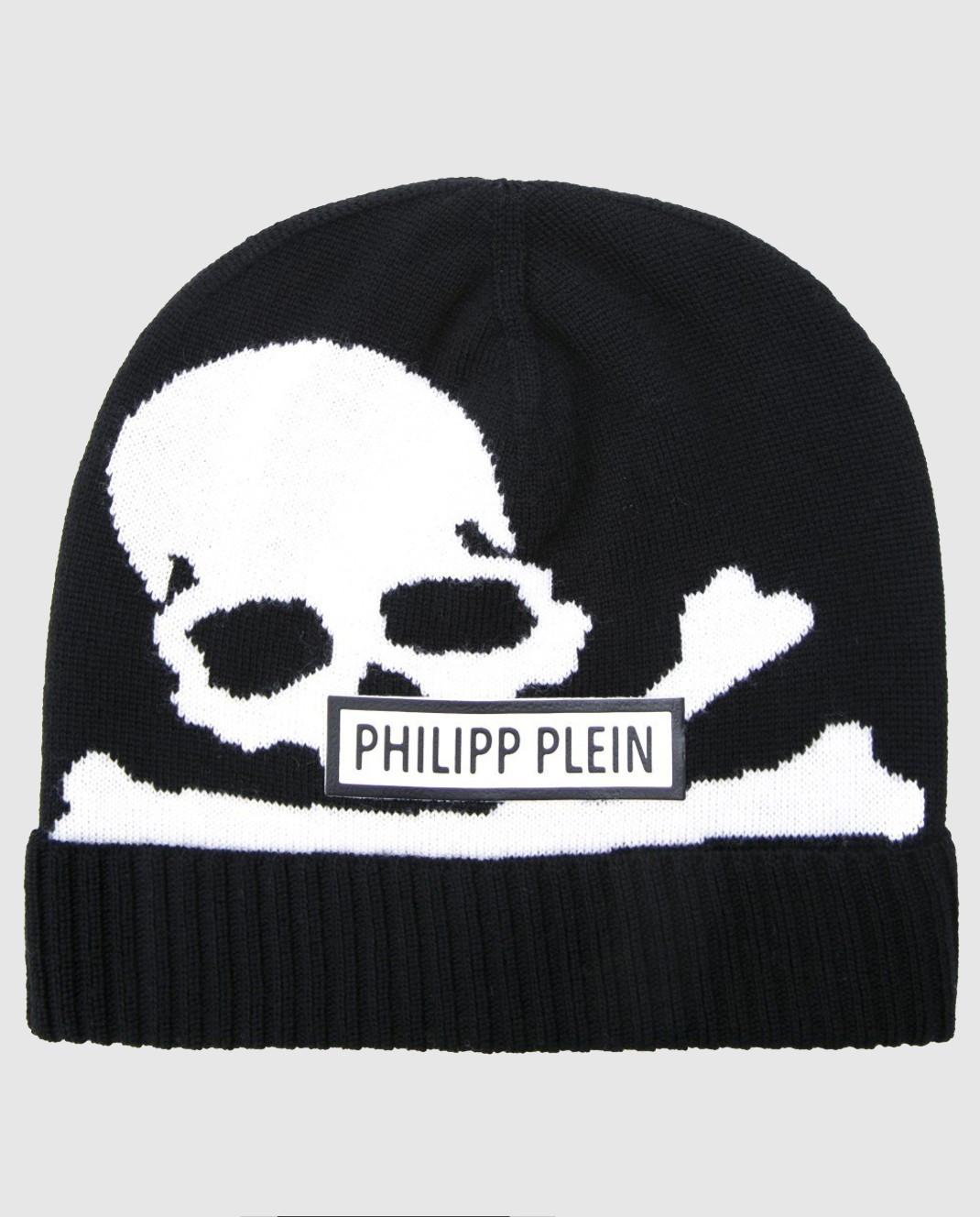 Philipp Plein Детская черная шапка BAC0008