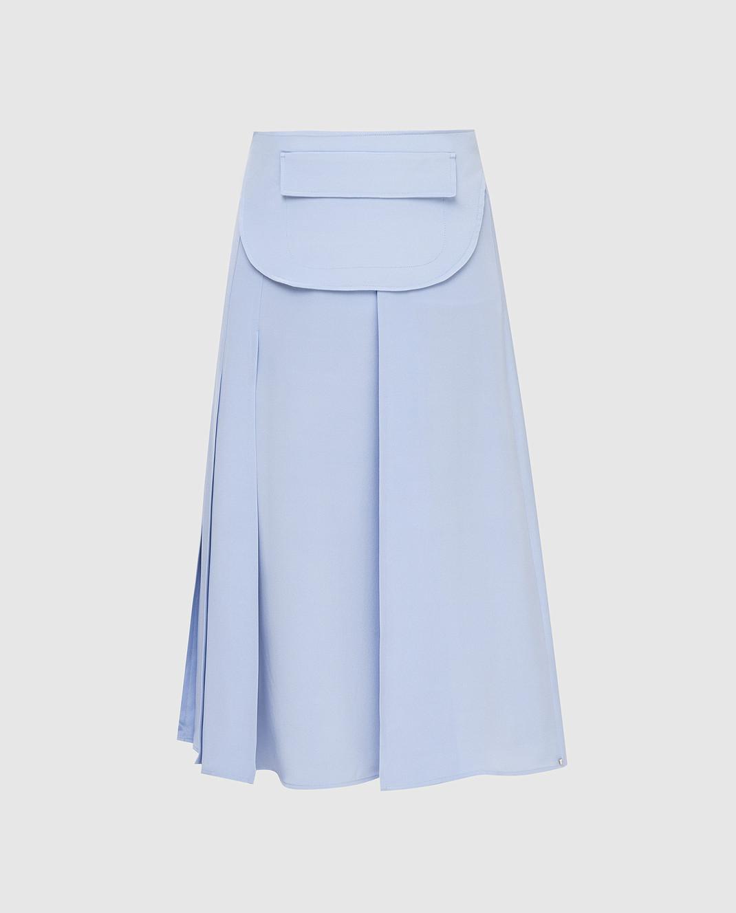Max Mara Sportmax Голубая юбка из шелка TARSIO