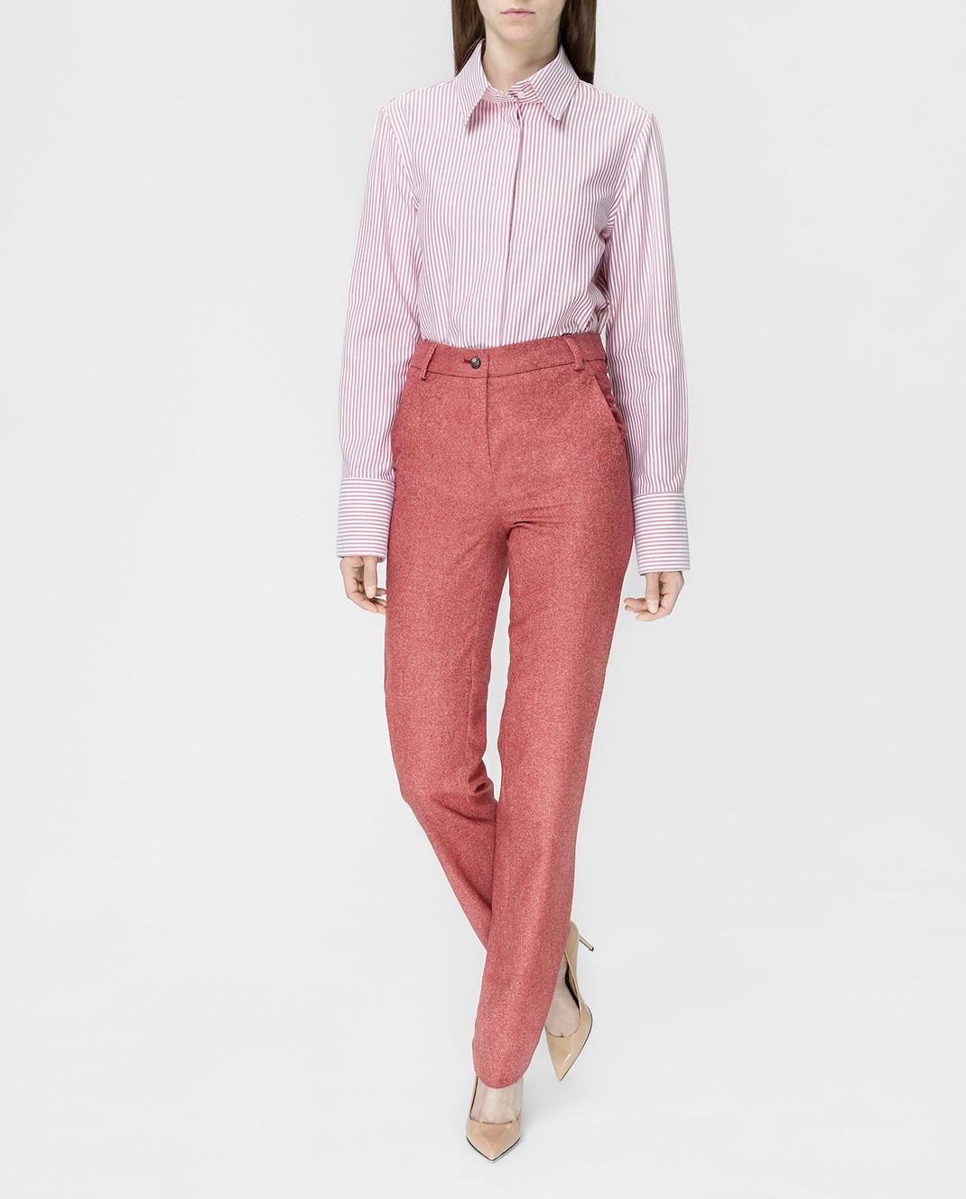 Stile Latino Бордовые брюки PDMARIELLA2EWU01 изображение 2