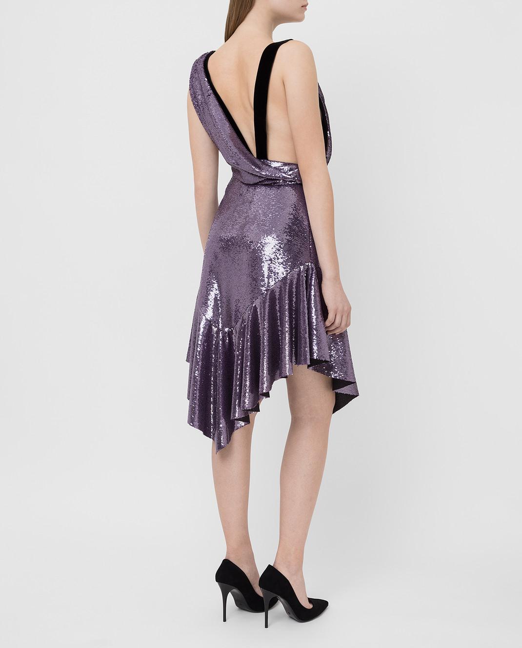 Philosophy di Lorenzo Serafini Фиолетовое платье в пайетках изображение 4