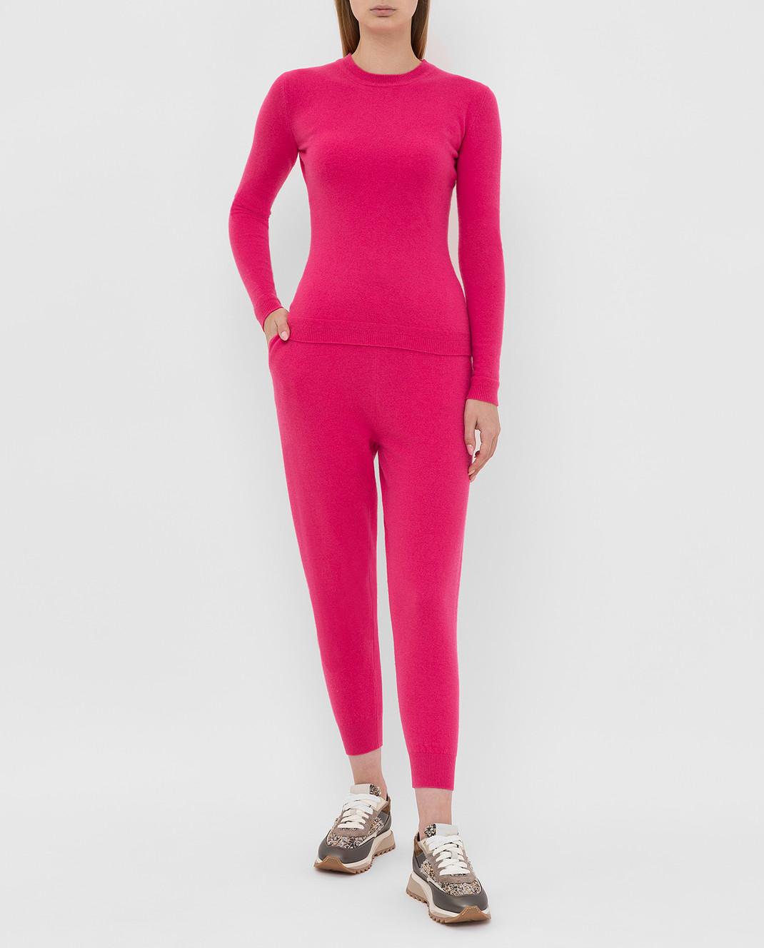 Tak.Ori Малиновые спортивные брюки PTK50005 изображение 2