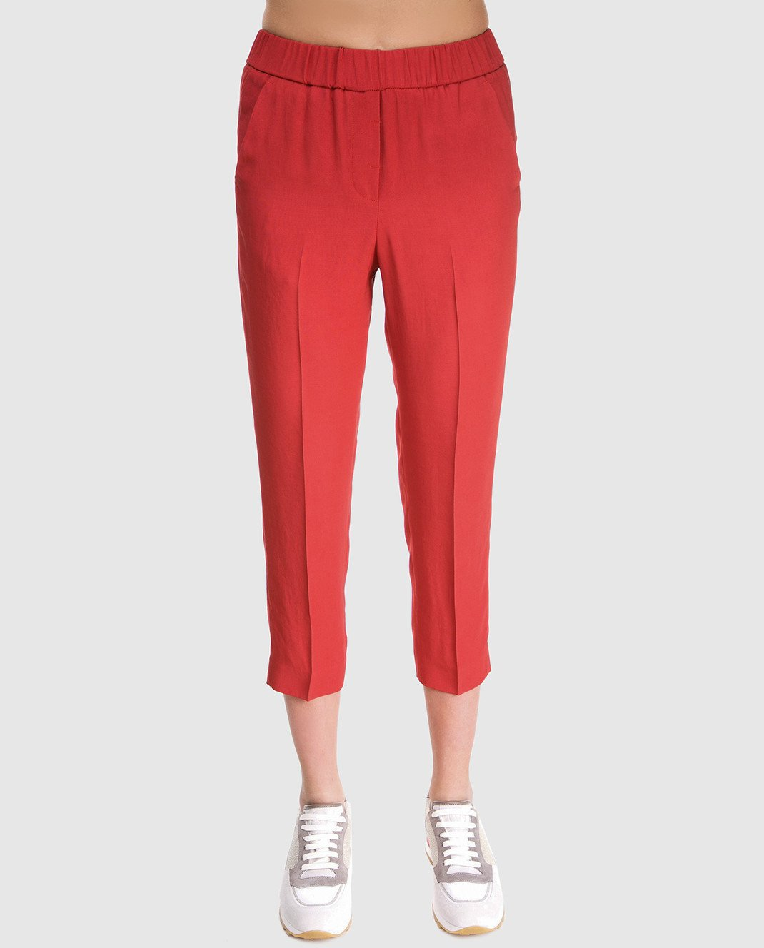 Peserico Красные брюки P04136 изображение 3