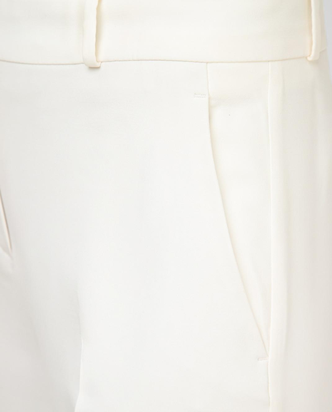 Loro Piana Светло-бежевые брюки из шелка и шерсти F1FAI5226 изображение 5