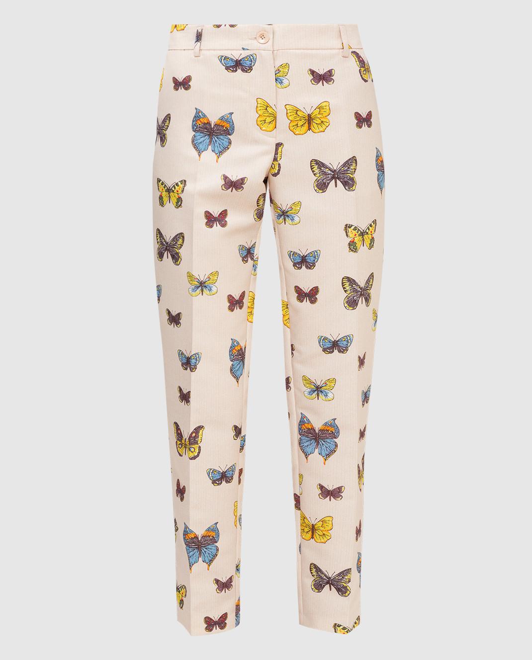 Blugirl Бежевые брюки 46387