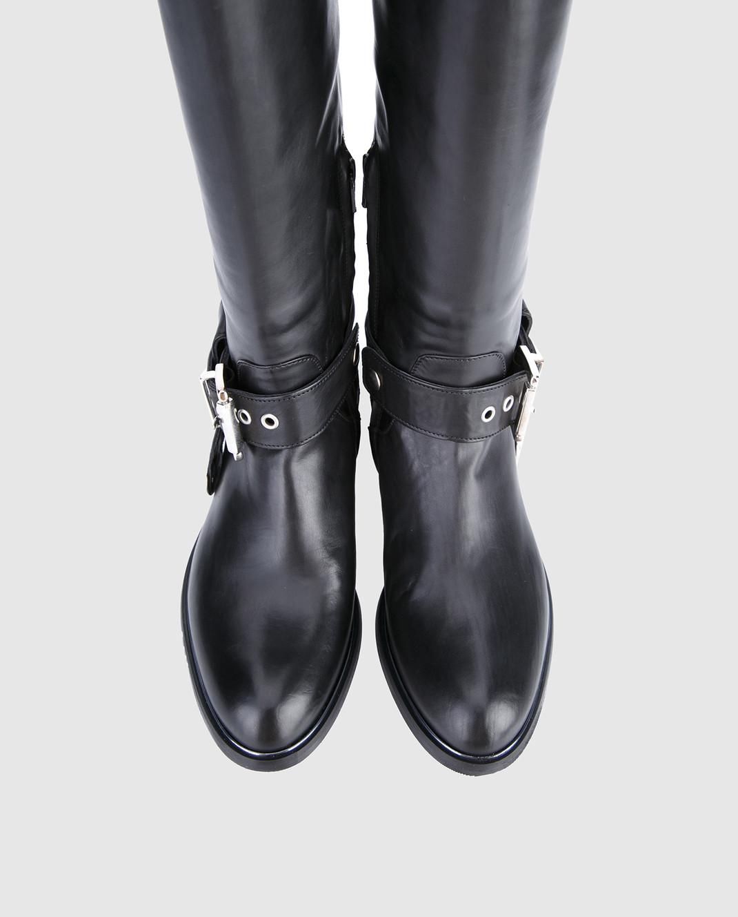 Fru it Черные кожаные сапоги изображение 4