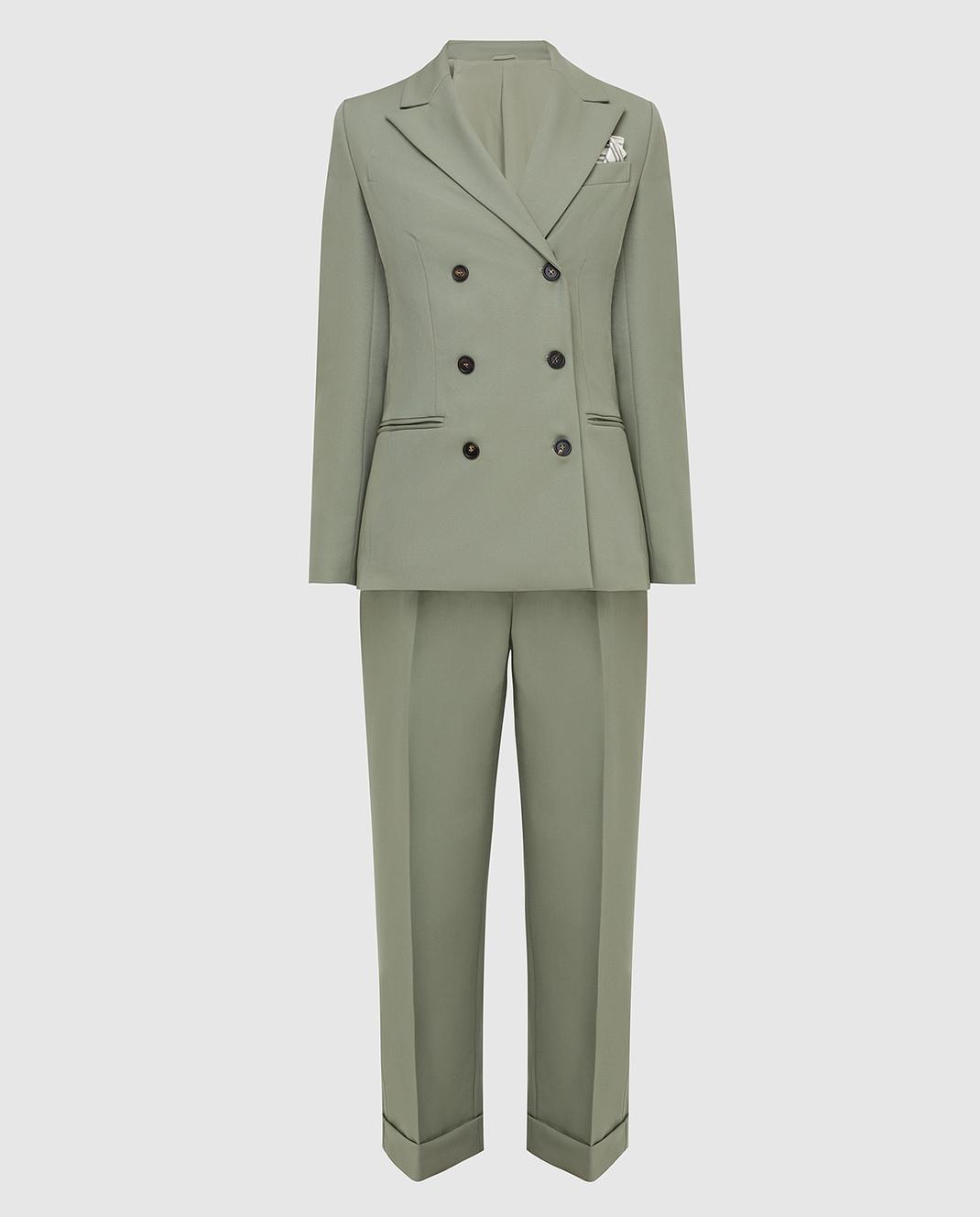 Brunello Cucinelli Зеленый костюм из шерсти изображение 1