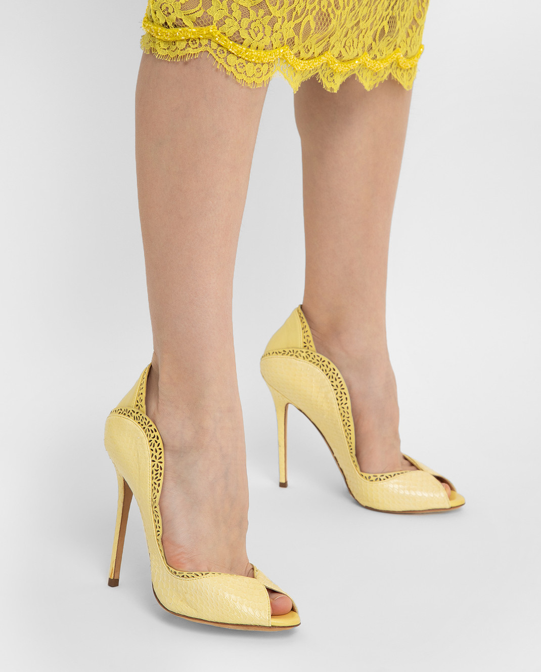 Cerasella Желтые туфли DANAEELAPHE4242 изображение 2