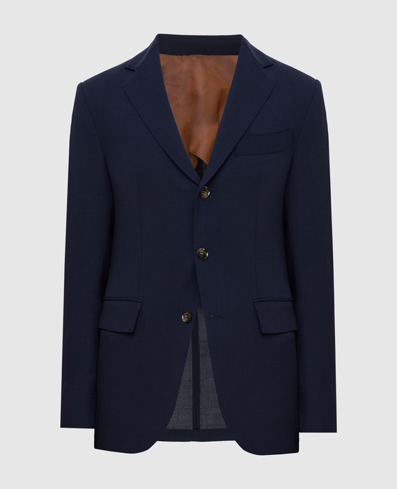 Темно-синий блейзер из шерсти