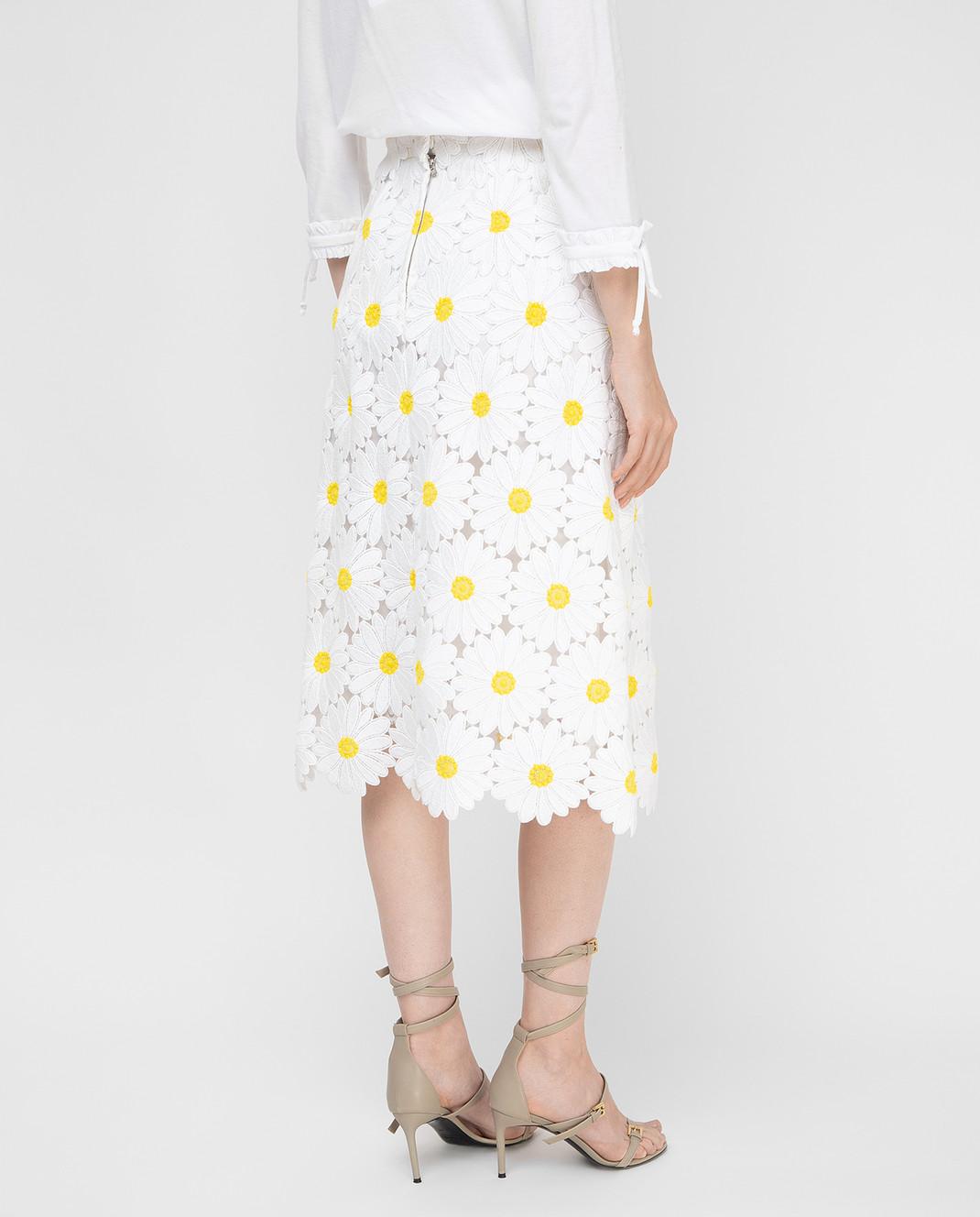 Dolce&Gabbana Белая юбка F4AHETHLMHE изображение 4