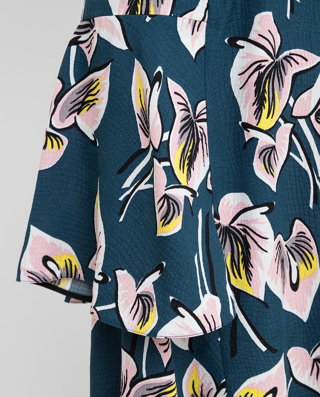 Marni Темно-бирюзовая юбка GOMAT39U00TV456 изображение 5