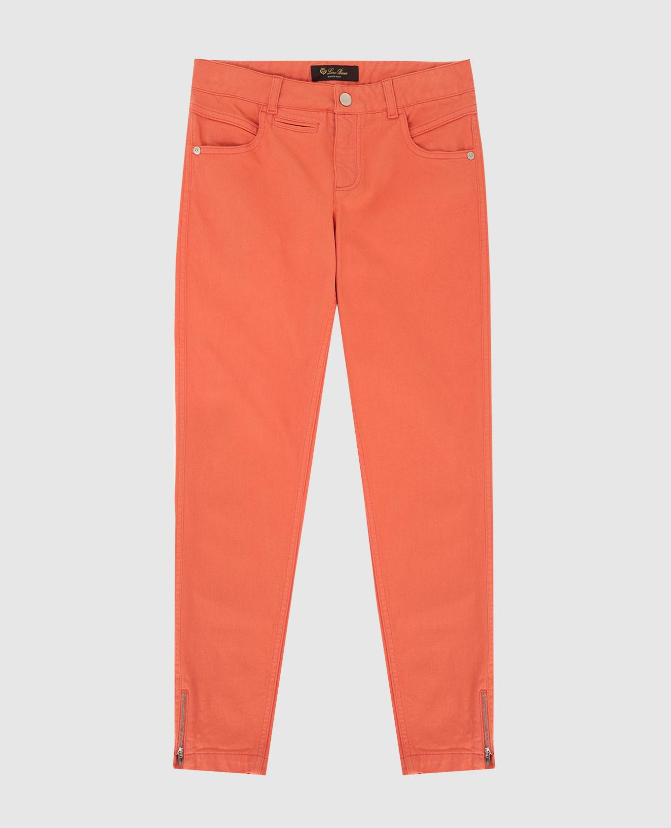 Детские коралловые джинсы