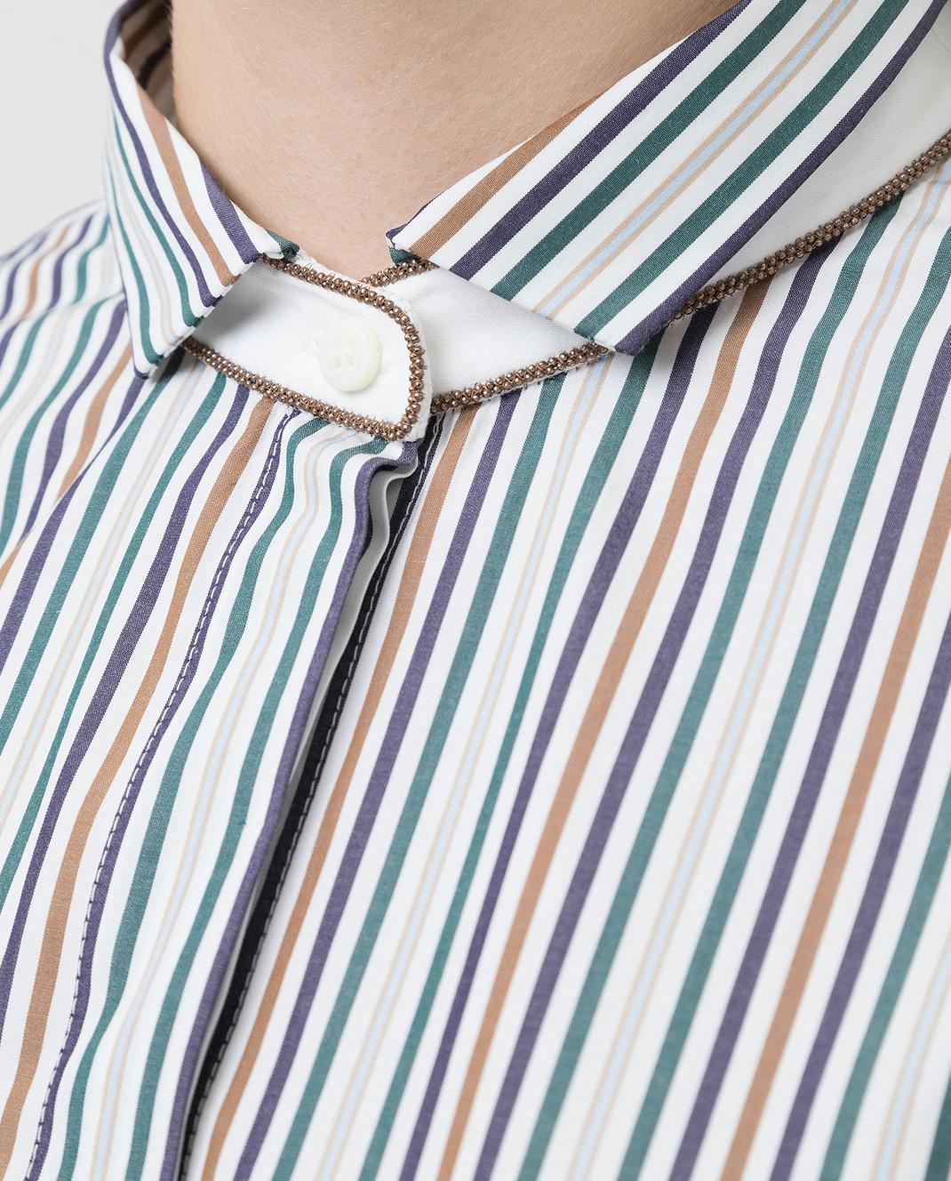 Brunello Cucinelli Белая рубашка изображение 5