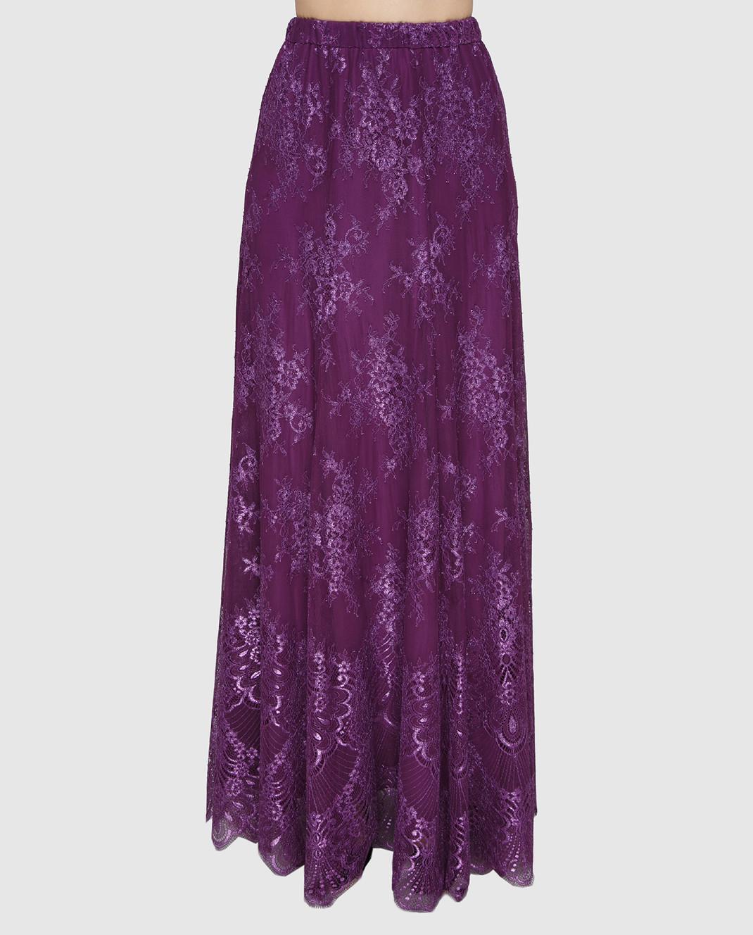 Philosophy di Lorenzo Serafini Фиолетовая юбка A0117 изображение 3