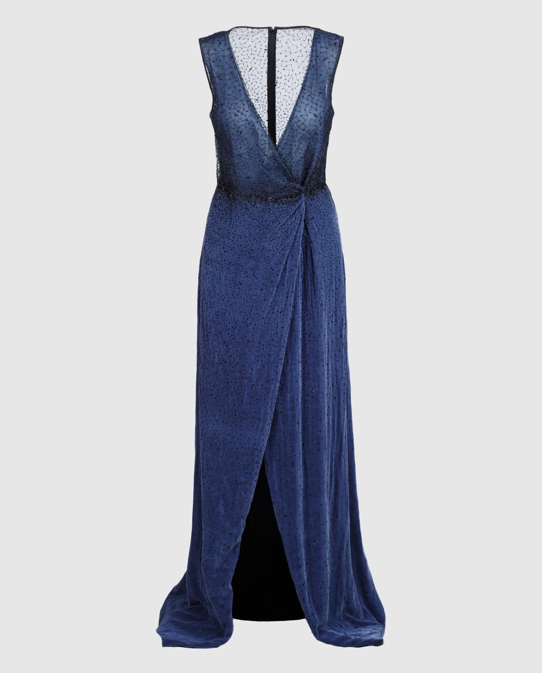 Dennis Basso Синее платье 13508