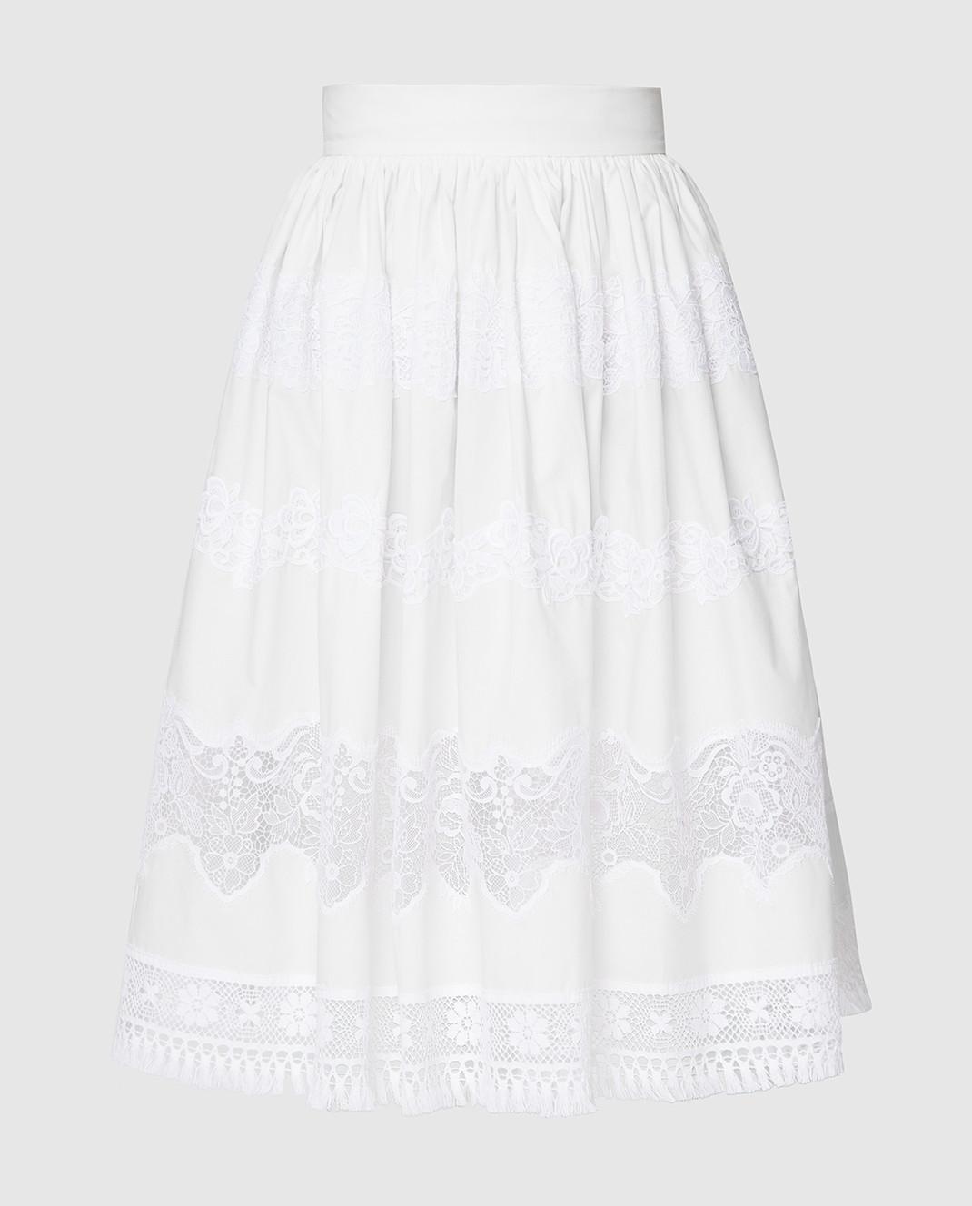 Dolce&Gabbana Белая юбка F4BC7TFU5L5