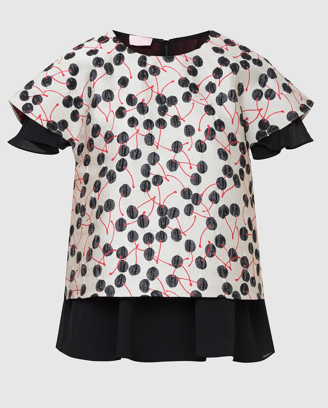 Giamba Светло-серая блуза PG2031