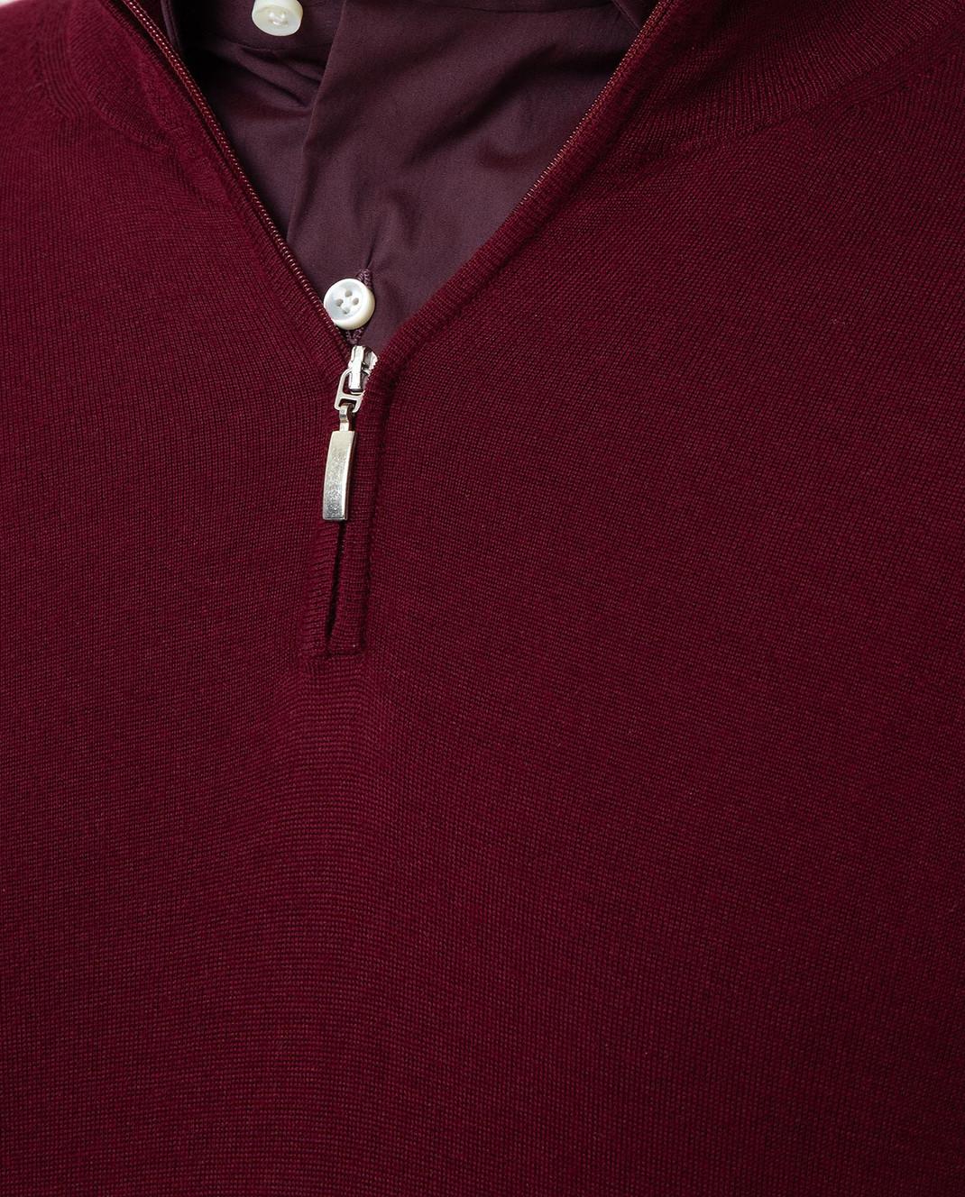 Ones Бордовое поло из кашемира и шелка T065 изображение 5