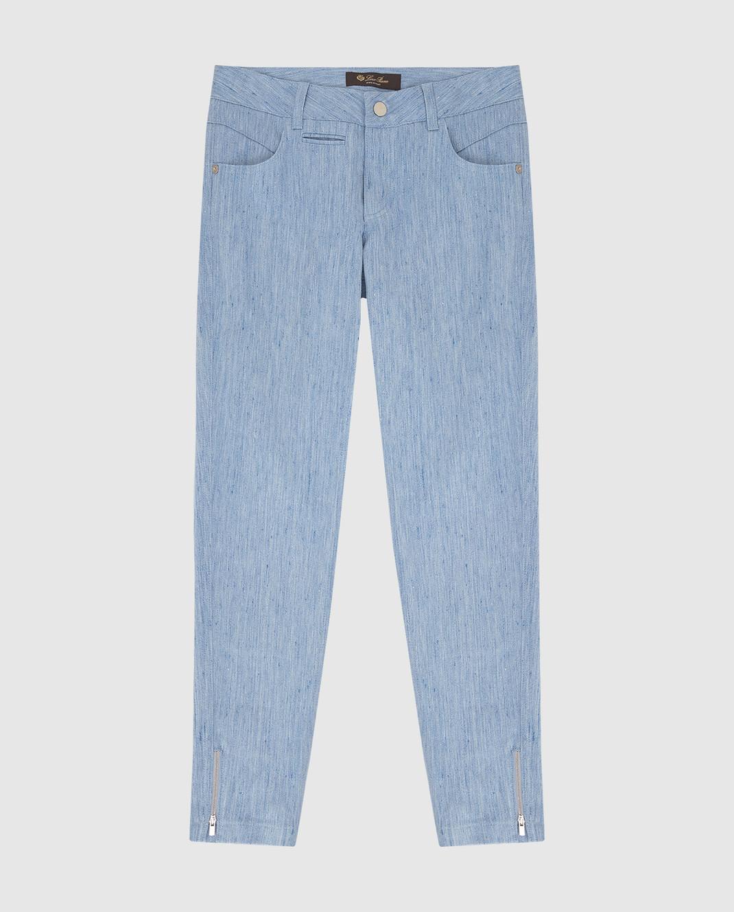 Loro Piana Детские голубые джинсы F1FAI0907
