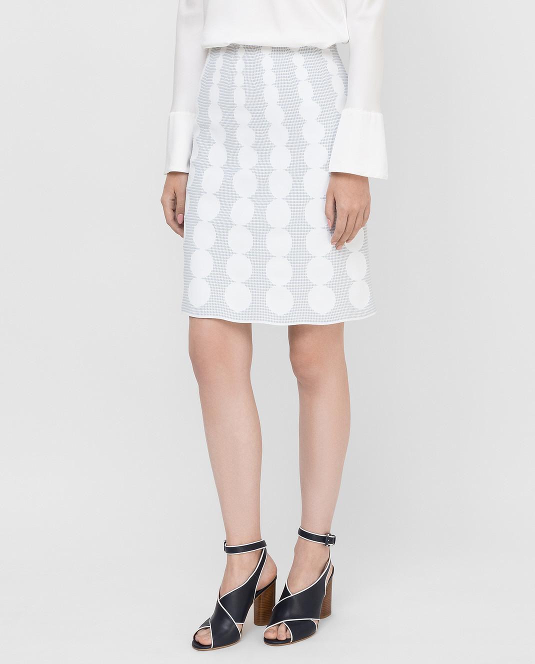 Azzedine Alaia Белая юбка изображение 3