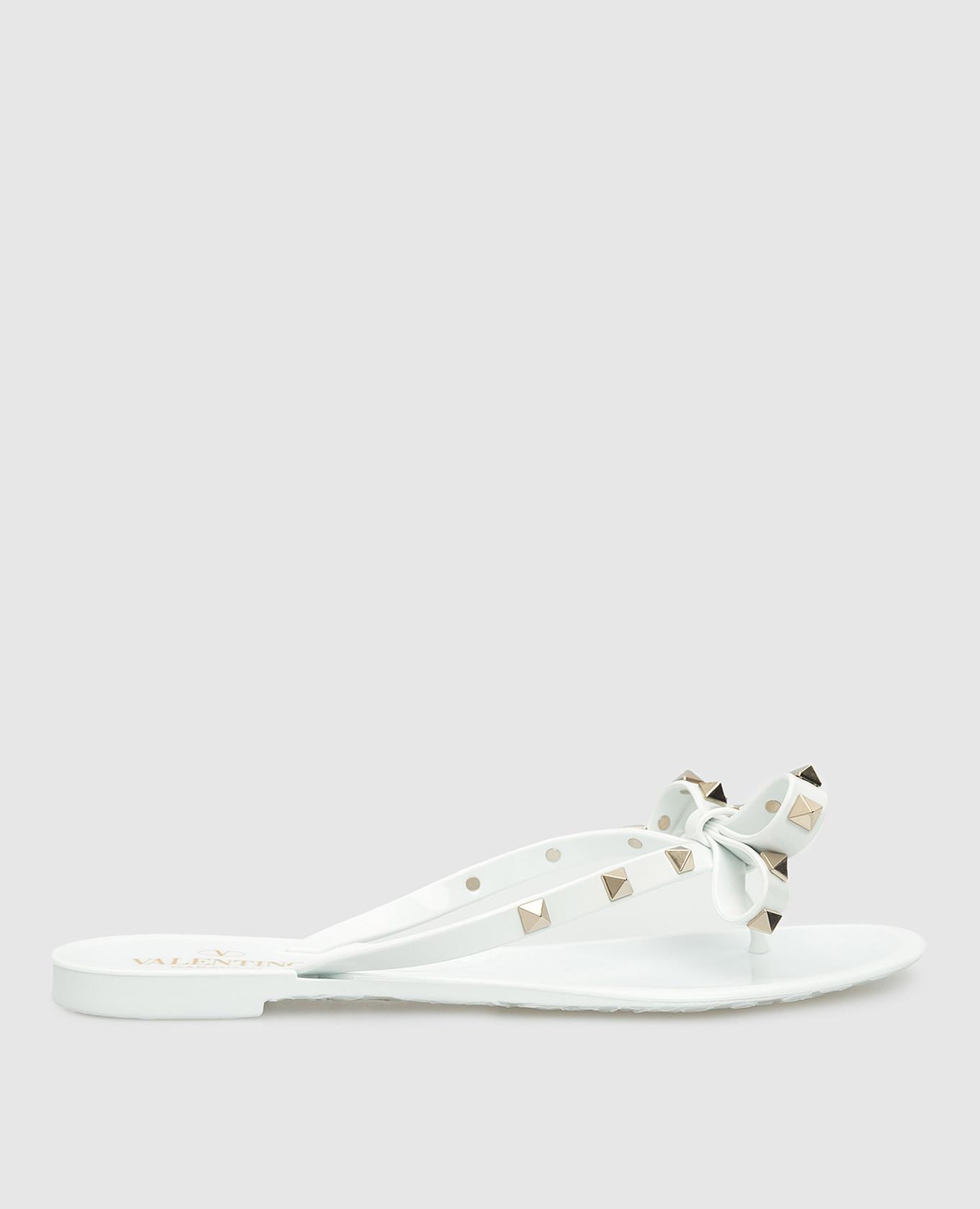 Белые шлепанцы Valentino