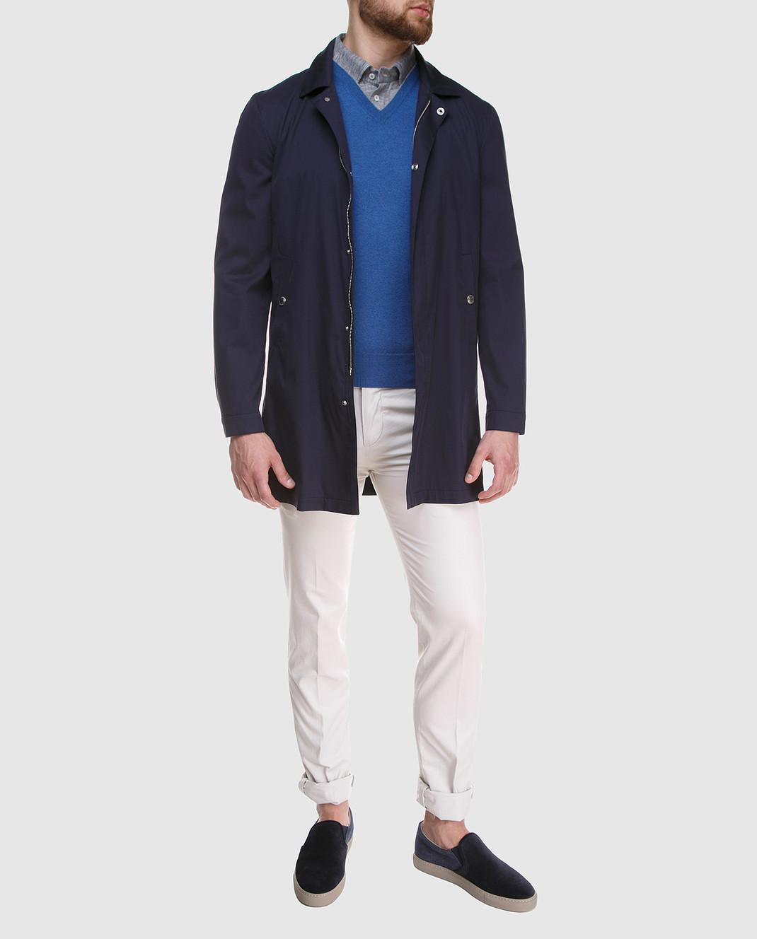 Brunello Cucinelli Синий пуловер M2200162 изображение 2