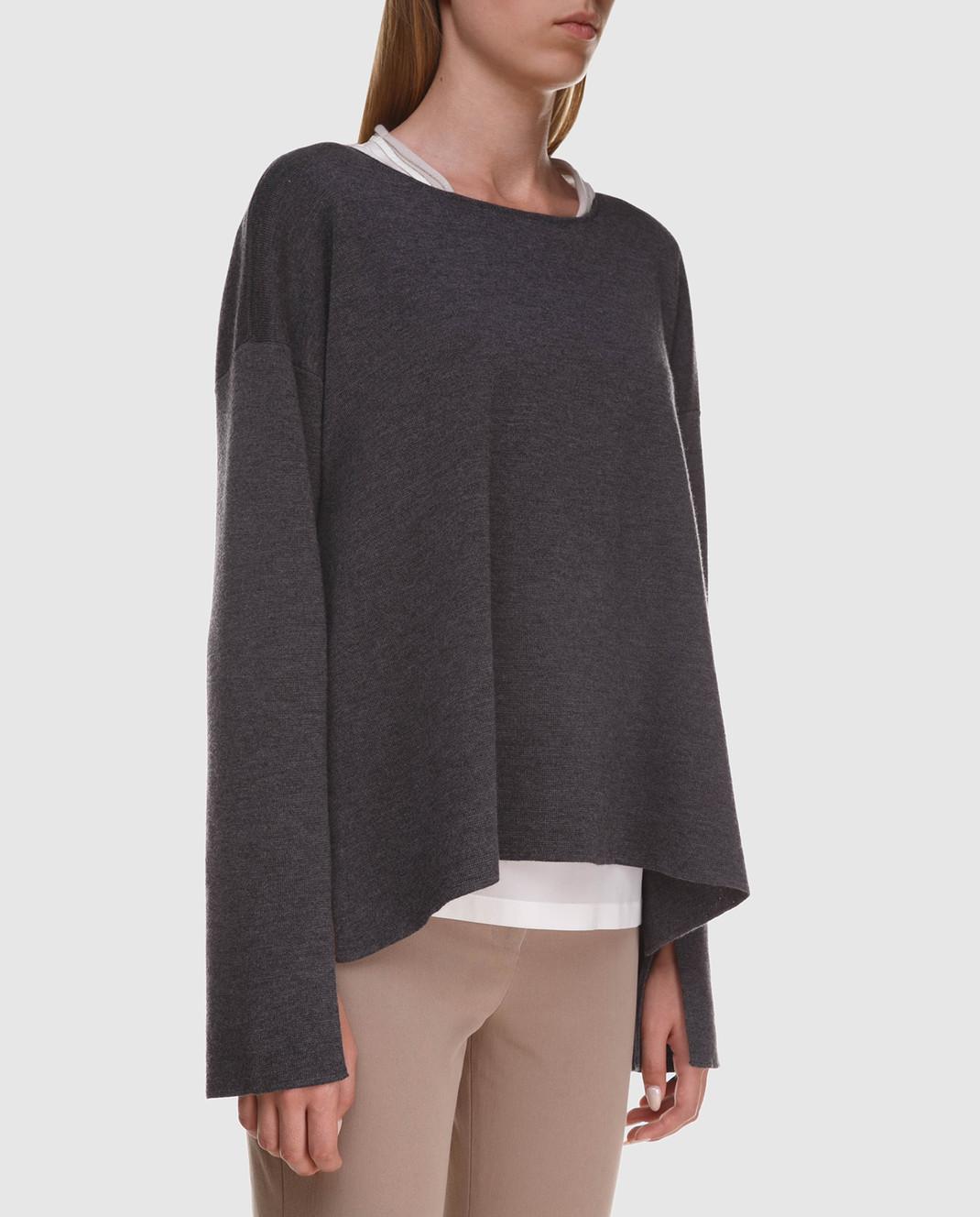 Peserico Серый джемпер из шерсти изображение 3