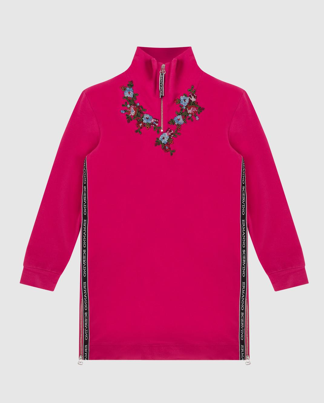 Ermanno Scervino Детское розовое платье AB181012