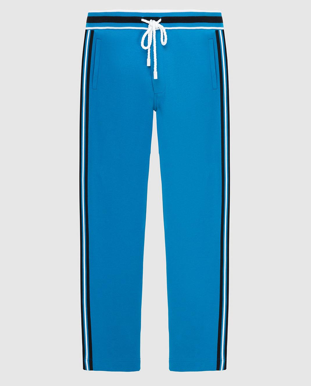 Stefano Ricci Синие спортивные брюки изображение 1