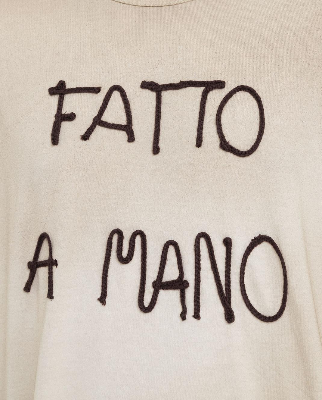 Dolce&Gabbana Бежевая футболка изображение 5