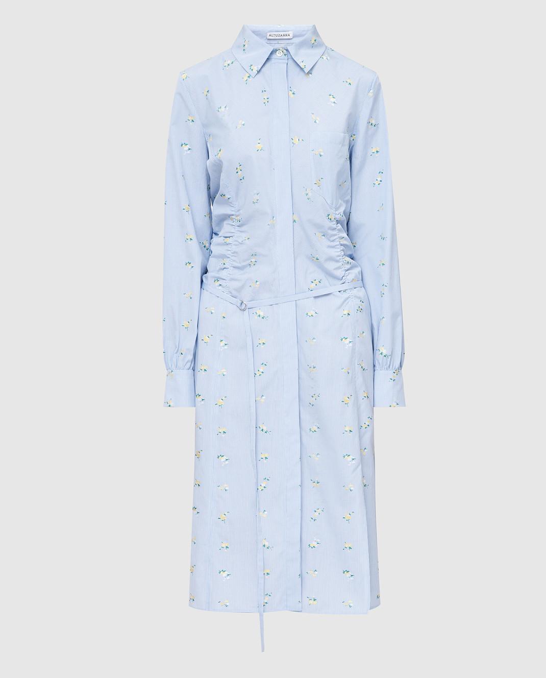 Altuzarra Голубое платье изображение 1