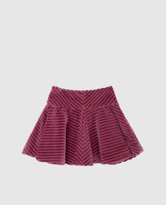 Детская розовая юбка