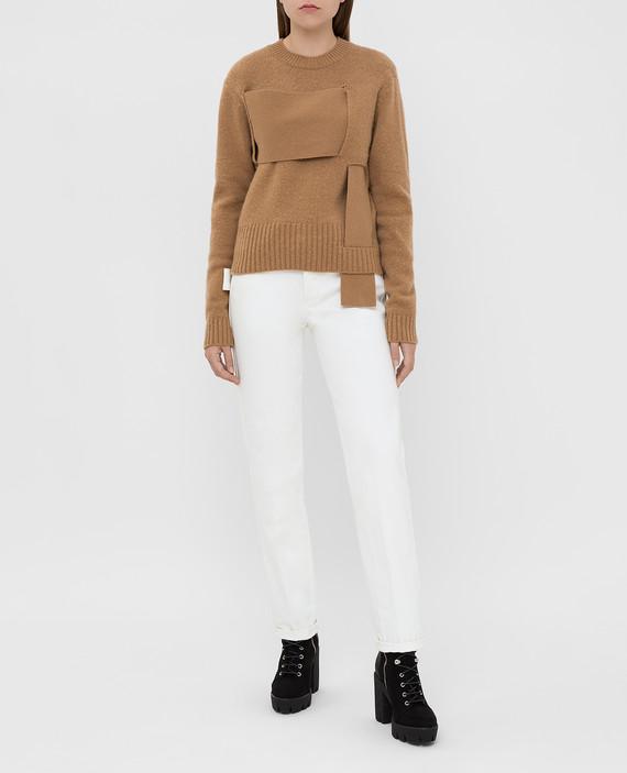 Бежевый свитер из шерсти hover