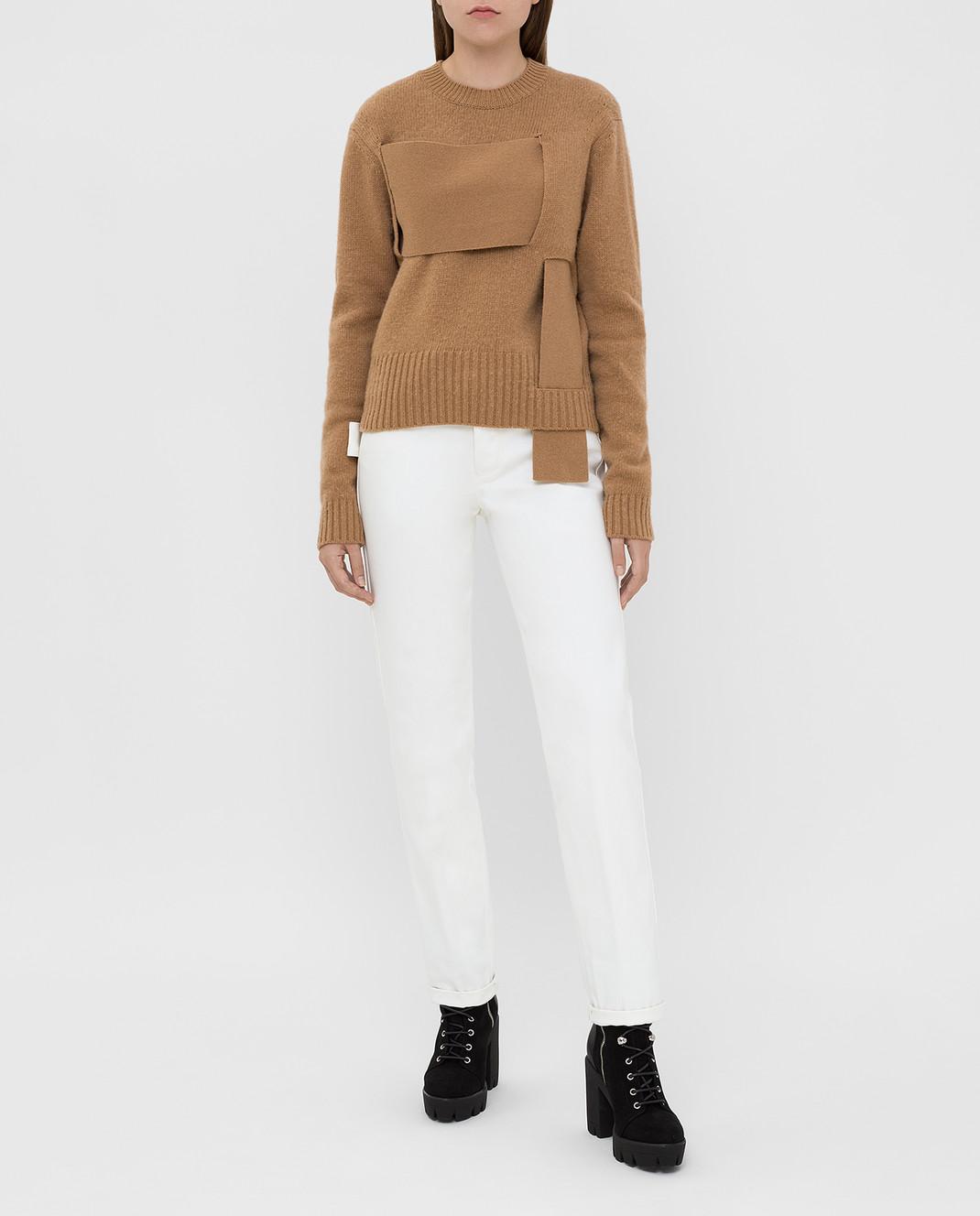 Bottega Veneta Бежевый свитер из шерсти 577543 изображение 2