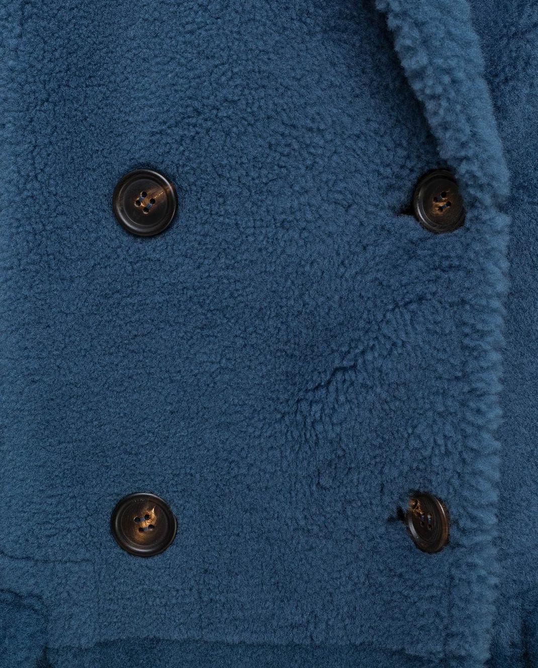 Brunello Cucinelli Синяя шуба изображение 5