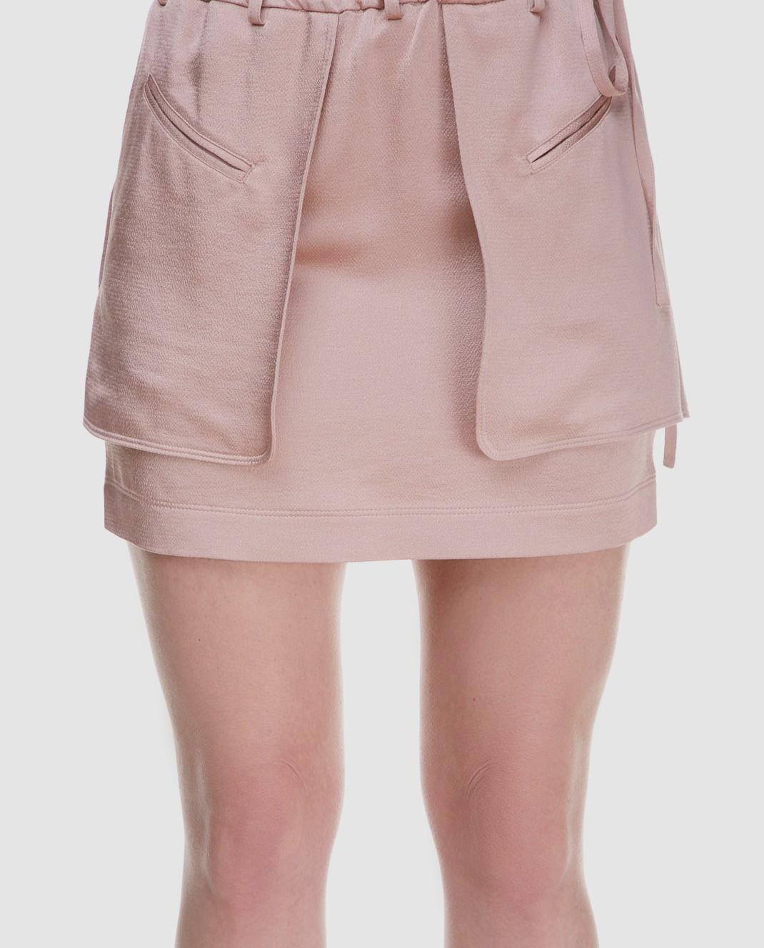Valentino Розовая юбка PB0RA3K53H3 изображение 4