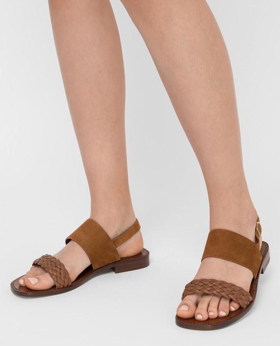 Коричневые сандалии hover