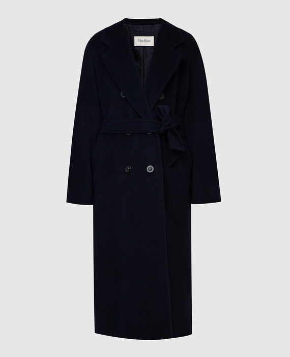 Темно-синее пальто из шерсти и кашемира
