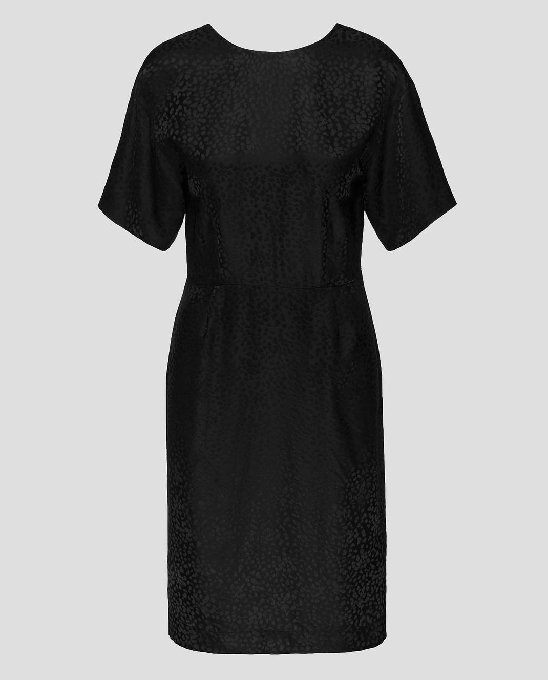 Alexander Terekhov Черное платье из шелка изображение 1