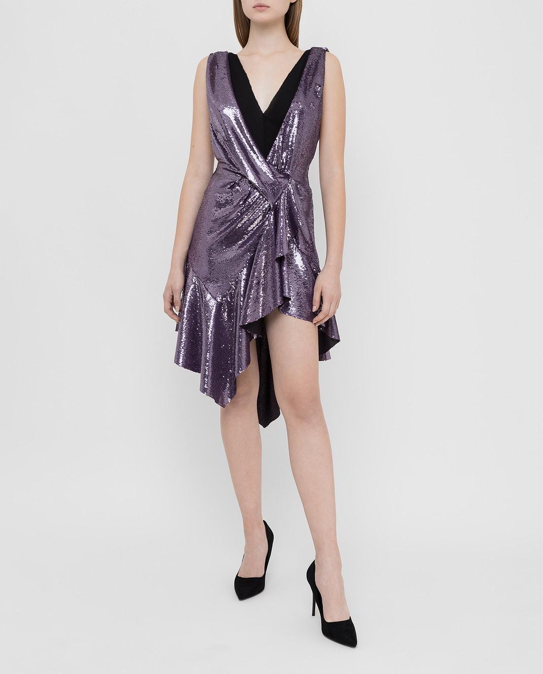 Philosophy di Lorenzo Serafini Фиолетовое платье в пайетках изображение 2