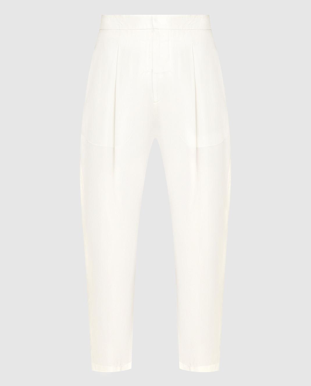 Marni Светло-бежевые брюки из шелка PAMAP01A00TSA29
