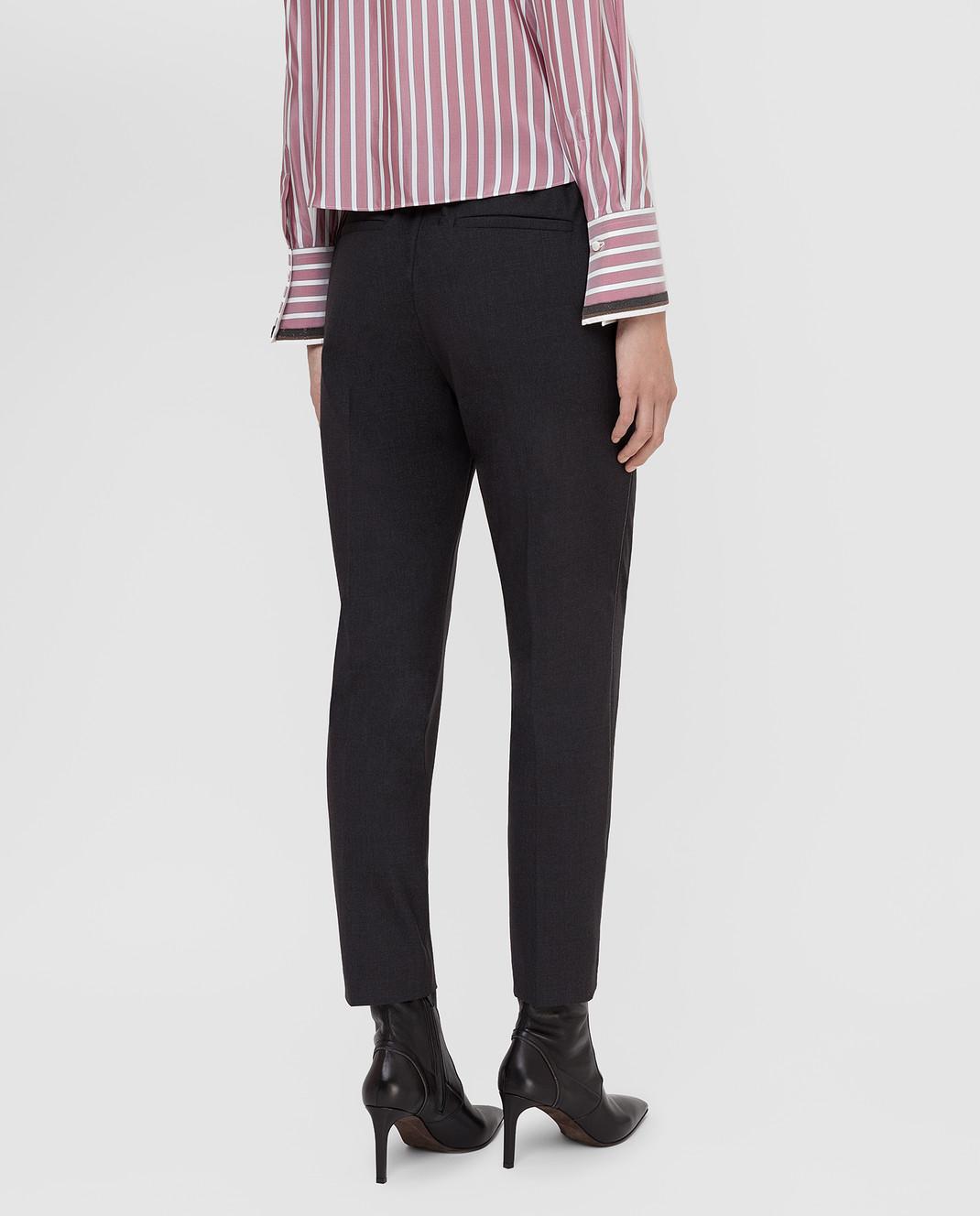 Brunello Cucinelli Темно-серые брюки из шерсти M0W07P6818 изображение 4