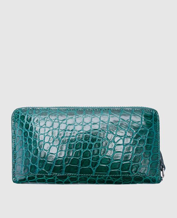 Зеленый кожаный кошелек hover
