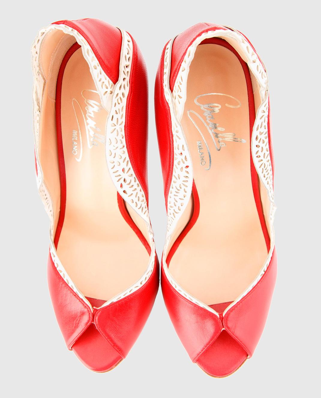 Cerasella Красные кожаные туфли DANAECAPRETTO DANAECAPRETTO изображение 5
