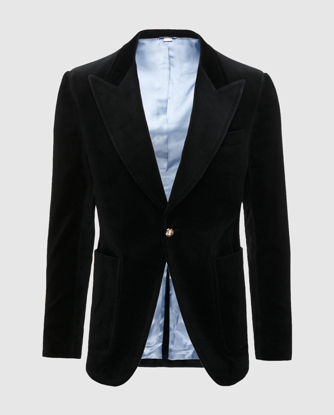Gucci Черный бархатный пиджак изображение 1