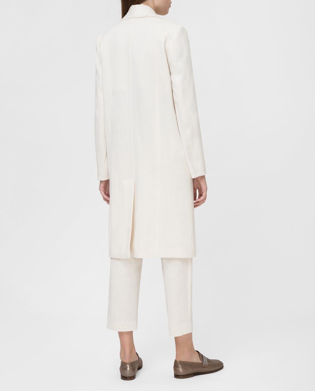 Brunello Cucinelli Белое пальто MF5779291 изображение 4