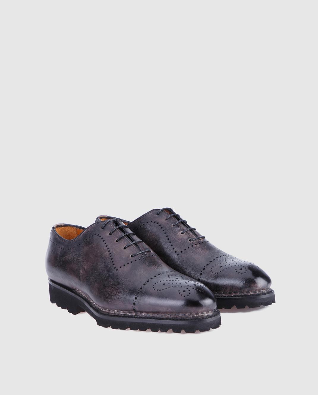 Bontoni Черные кожаные оксфорды BRERA изображение 3