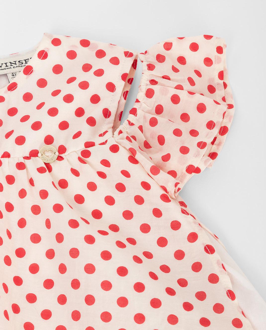Twin Set Детская белая блуза FS82PN изображение 3