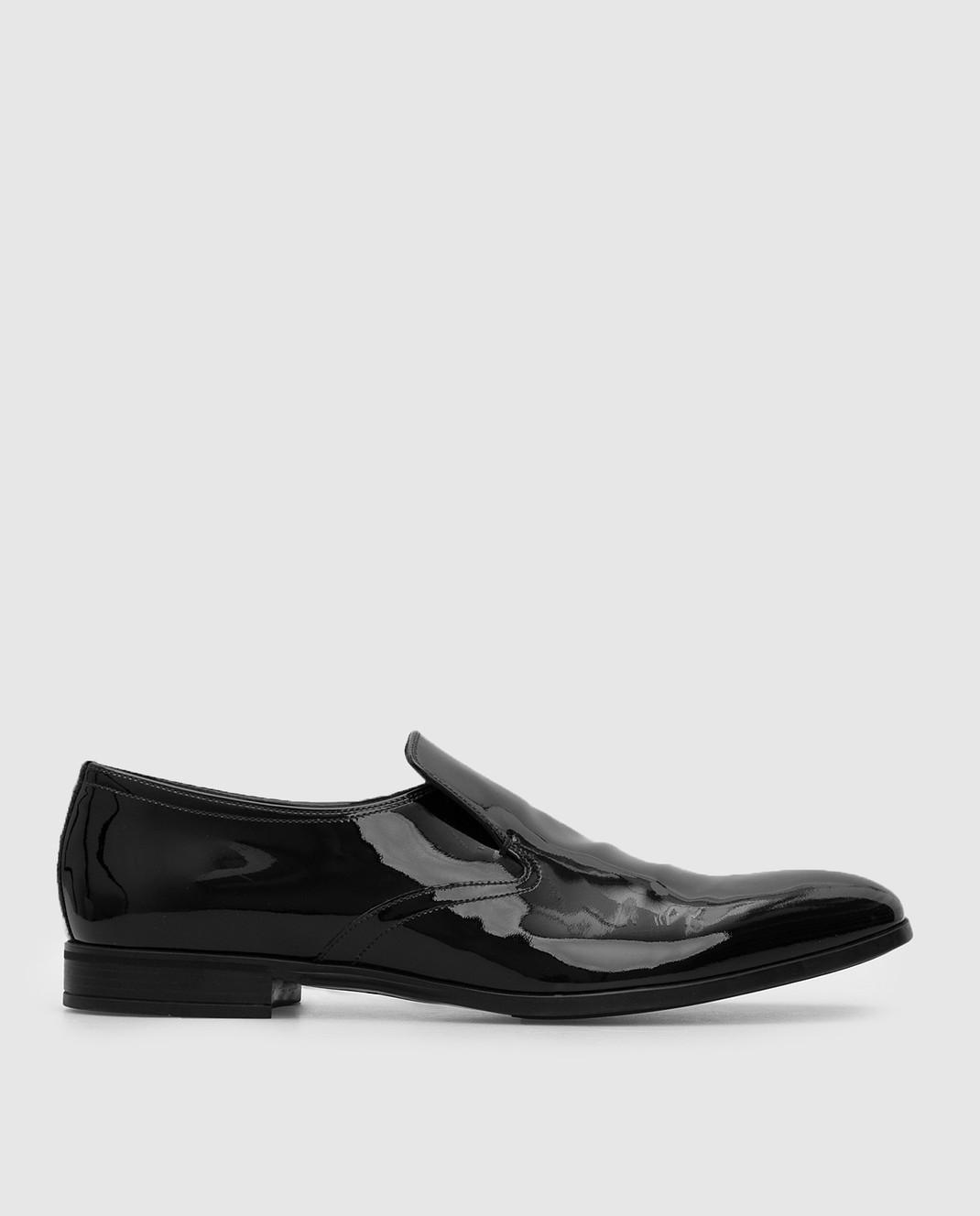 Prada Черные кожаные лоферы 2DC129